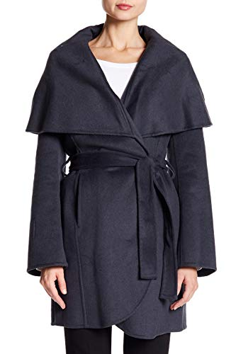 (Tahari Womens Maria Belted Wool-Blend Coat, M)