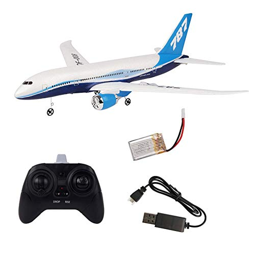 Freshdoll RC Airplane Toy DIY Remote Control EPP Foam Plane 2.4G 3CH RC Glider Plane Aircraft, Boeing 787 Model, Built in 6 Axis Gyro System Easy to Fly for -