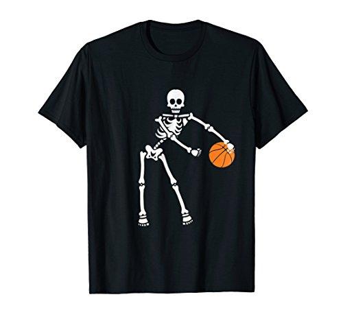 Skeleton Basketball Halloween Shirt Flossing Dance Costume -