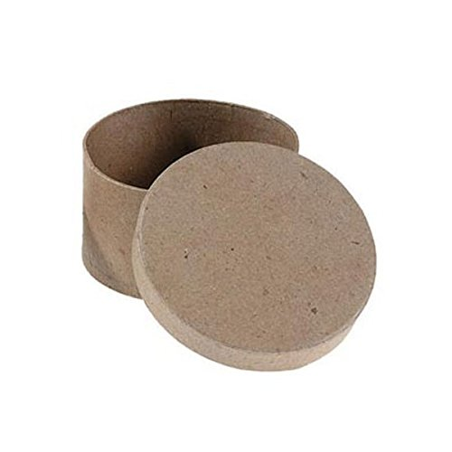 Bulk Buy: Darice DIY Crafts Paper Mache Box Round 4 x 4 x 2 in (6-Pack) 2833-33 ()