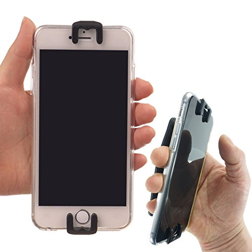 AR (Augmented Reality) Game Accessories Hand Holder - WiLLBee CLIPON 4~6 inch (Black) Cell Phone Finger Ring Hold Case Strap Smart Grip Tool for iPhone 7 6S 6 Plus Galaxy Note5 S7 S6 Edge LG G5