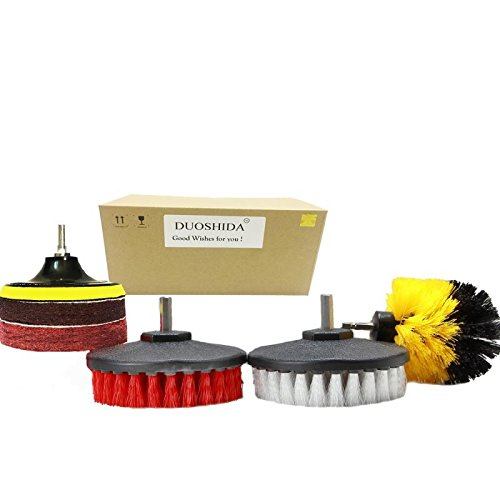Potencia Scrubber Set: taladro cepillos y estropajos–limpiar agua dura y las manchas 5x más rápido–para...