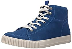 CK Jeans Men's Jenson Suede Canvas Fashion Sneaker, Blue/Blue, 12 M US