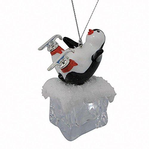 Trim A Home Acrylic Penguin Ice Cube Christmas Ornament -