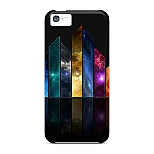 Fashion pc Case For Iphone 5c- Abstract Color Defender Case Cover