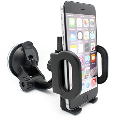 - Compatible with DuraForce Pro 2 - Car Mount Phone Holder Windshield Swivel Cradle Stand Window Glass Dock Suction Black Multi Angle Rotation Works with Kyocera DuraForce Pro 2
