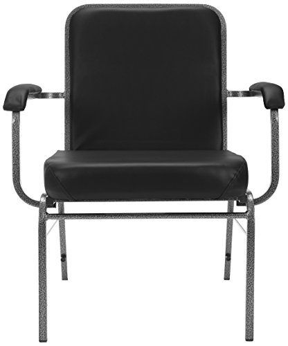 (OFM Big and Tall Comfort Class Series Anti-Microbial/Anti-Bacterial Vinyl Arm Chair, Black)