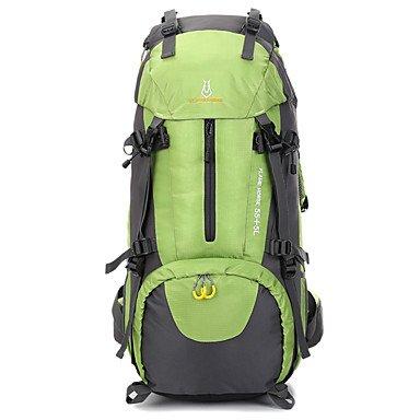 ZHUDJ Grande Capacità Esterna Impermeabile Sport Campeggio Escursionismo Zaino Da Trekking,Verde