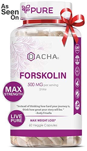 DACHA Forskolin Max Strength LivePure - 500mg Coleus Extract for Weight Loss