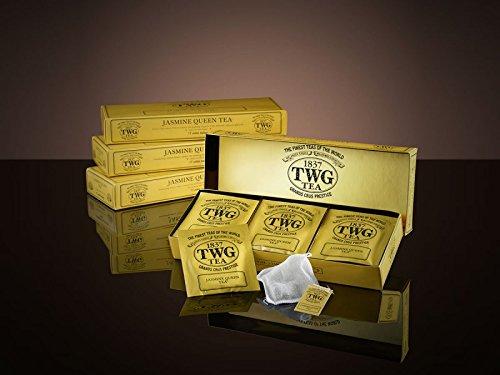 TWG Singapore - The Finest Teas of the World - JASMINE QUEEN - 15 sachets de thé de pur coton cousu á main