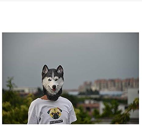 wanjuna Halloween Husky Siberiano Perro Máscara De Látex Novedad ...