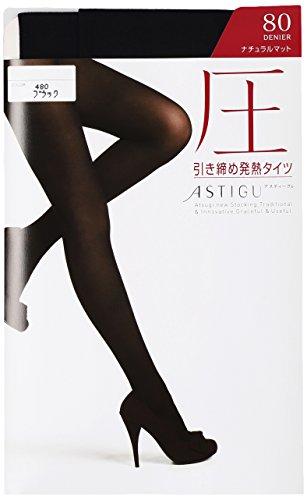 ATSUGI 아츠기 타이츠 ASTIGU (아스티구) [압력] 강화 발열 스타킹 80 데니아  3 켤레 세트