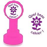 """Tampons auto-encreurs pour enseignants """" Quel beau cahier! """" - Encre Pourpre / Violet"""