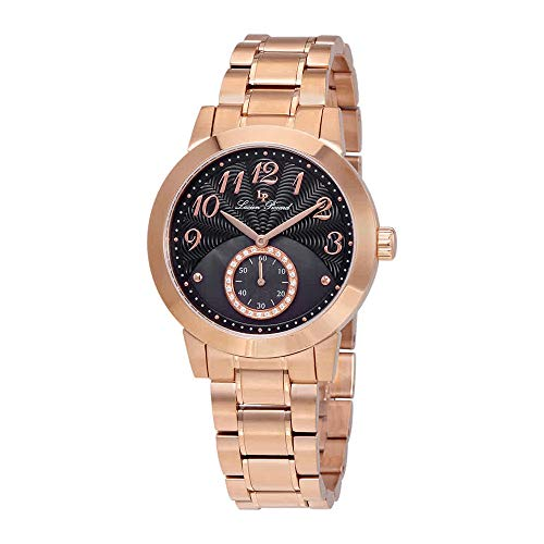 Lucien Piccard Women's ' Garda Quartz Stainless Steel Casual Watch, Color:Rose Gold-Toned (Model: LP-40002-RG-11