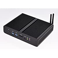 Kingdel Fanless Mini Computer, Nettop with Intel Haswell i7 4th Generation CPU, Barebone, 2HDMI, 2NICs, SPDIF, 4USB3.0, Wi-Fi, Metal Case