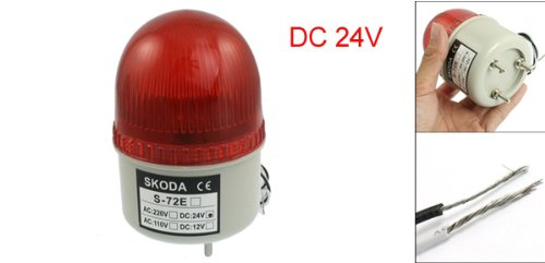 uxcell DC 24V Industrial Signal Tower Red LED Warning Light by uxcell (Image #2)