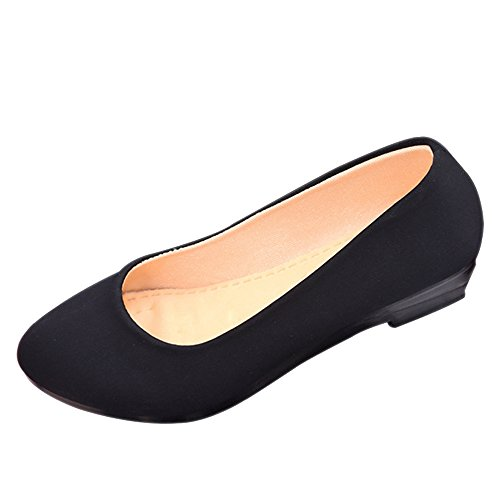 Bozevon Classico Donna Loafers cono Scarpe B Basse Mary Jane Nero Ballerine Moda Sandali Rosso rfrAqwTZ