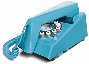 Wild & Wolf Trim Phone - Teléfono fijo estilo años 70, color turquesa [Importado de Reino Unido]