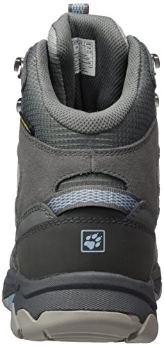 Jack Wolfskin Mtn Attack 5 Texapore Mid W, Zapatos de High Rise Senderismo para Mujer Gris (Cool Water)