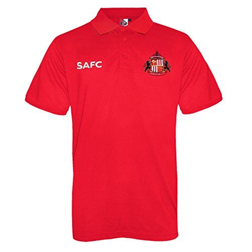 Sunderland AFC Official Football Gift Mens Crest Polo Shirt Red XL (Polo Mens Crest)