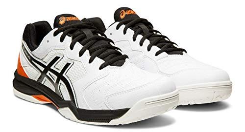ASICS Gel-Dedicate 6 Men's Tennis Shoes, White/Black, 11 M US (Tennis For Newbies)