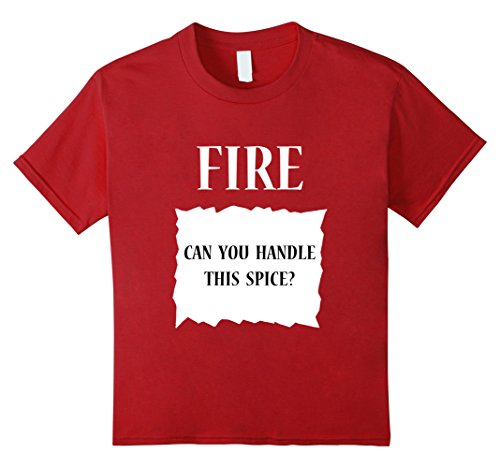 Kids Fire Hot Sauce Packet Group Halloween Costume T-Shirt 4 Cranberry