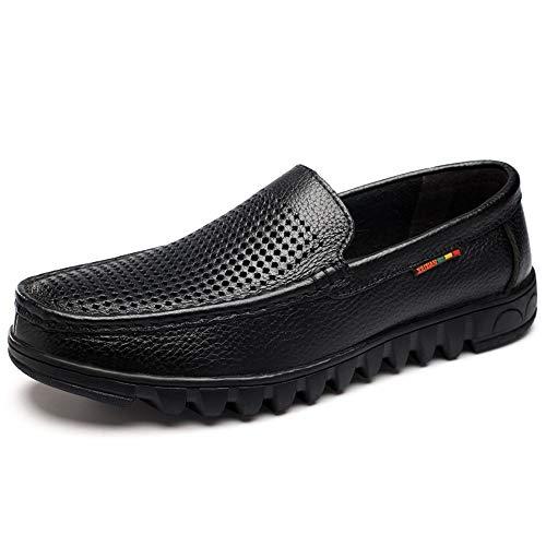 Noir 43 EU Chaussures de mode, Chaussures Oxford Classiques for Hommes Chaussures Habillées Slip On Style OX En Cuir Creuser Couleurs Solides Bas Top Mocassins Chaussures de personnalité, chaussures Oxford
