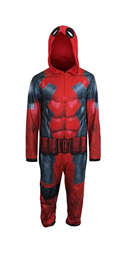 Briefly Stated Deadpool Adult Union Suit with Hood (Adult Small)]()