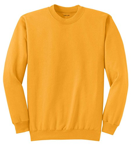 Joe's USA Adult Classic Crewneck Sweatshirt, L -Gold ()