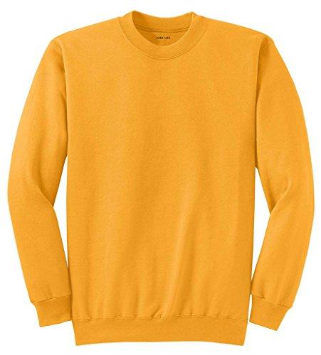 (Joe's USA Adult Classic Crewneck Sweatshirt, S -Gold)