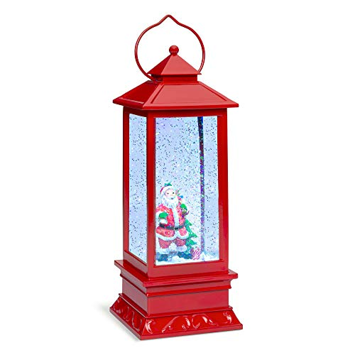 - Best Choice Products Pre-Lit Battery Operated Glitter Snow Globe Christmas Lantern Holiday Decoration w/Santa Claus