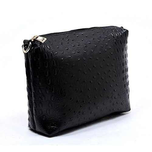 Hobo Coin Pouch Le Strap Embossed Miel w Long Ostrich Black Crossbody p8XzFwpr