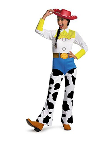 Halloween Costume Ideas For 4 Adults (Disguise Women's Disney Pixar Toy Story and Beyond Jessie Costume, White/Black/Blue/Yellow,)