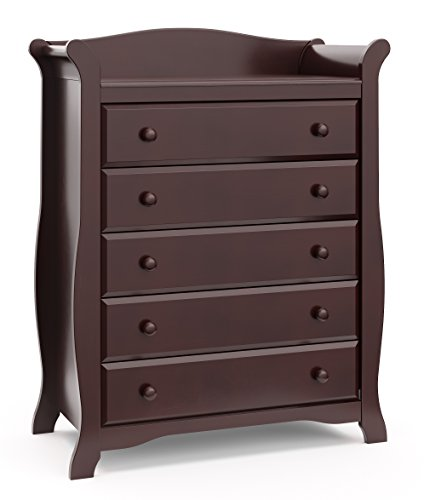 Storkcraft Avalon 5-Drawer Universal Dresser, Espresso
