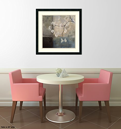 Framed Art Print, 'Spa Blossom I' by Laurie Maitland: Outer Size 25 x 25'' by Amanti Art (Image #4)