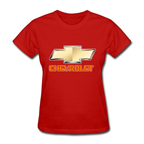 Van Women's American General Motors Chevrolet Car Brand Logo Tees L Red