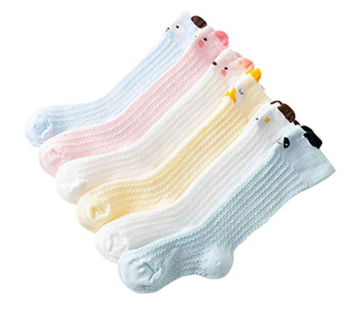 - Unisex Baby Knee-High Socks Toddlers Breathable Mesh Dance Sock Summer Anti-mosquito Cable Knit Socks (0-12M)