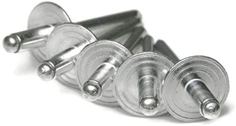 "Large Flange Pop Rivets 3//16/"" x 1//4/"" Aluminum Dome Head Blind Qty 250 6-4"