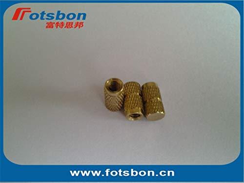 Ochoos IBB-M2.5-4 Blind Threaded Insert,Molded-in Threaded Inserts,Brass,Nature,PEM Standard,