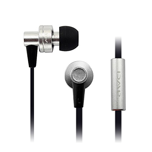 ES900i Super Bass Stereo Metal Earphone Headphone Headset for iPod MP3 MP4 - Red (Silver)