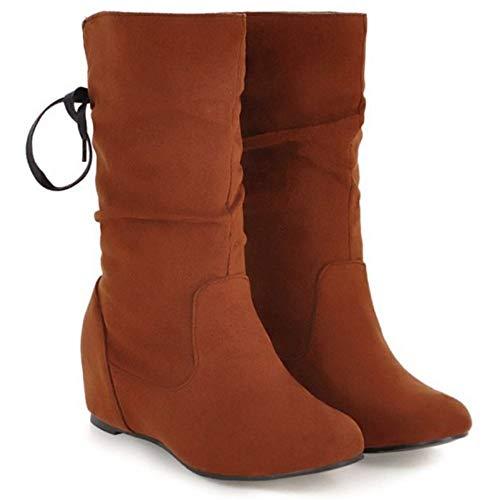 Boots Talon Slouchy Femmes Bottes Coolcept Confort Jaune Moyen qtvfAw6Snw
