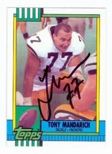 1990 Topps Nfl Card - Tony Mandarich autographed Football Card (Green Bay Packers) 1990 Topps #139 - NFL Autographed Football Cards