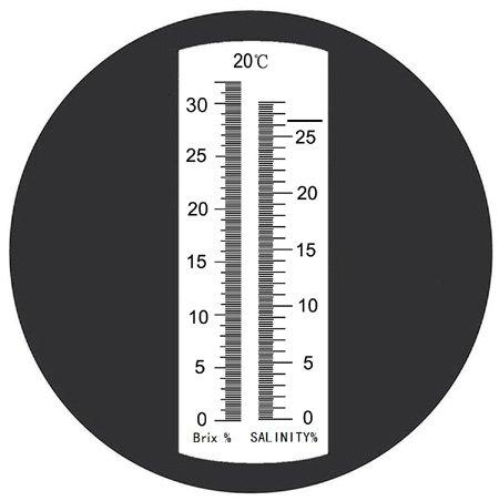 Sinotech 2 in 1 Brix & Salinity 0-28% salinity 0-32% brix Refractometer Rhs-28brixatc by Sinotech (Image #1)