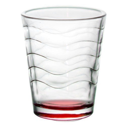 (BarConic® 1.75 ounce Red Wave Shot Glass (Case of 72))
