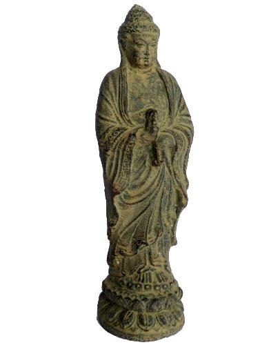 Wisdom Arts #8129 - Standing Buddha ~9'' High, cast stone Buddha statue