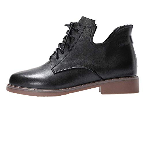 Femmes Cuir Chaussures Black Pour Zqzq Portable Antidérapant rX7RIzX