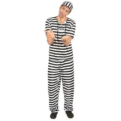 rayado prisionero rayado disfraz Un tamaño: Amazon.es ...