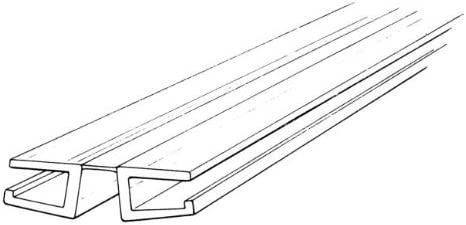 12 Long Clear PVC Living Hinge with Bottom Groove Pack of 2 Fits 1//4 Material
