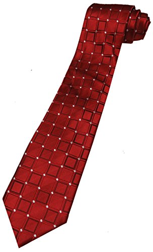 Men's Donald Trump Signature Collection Necktie Neck Tie Red and Silver with Gold - Collection Trump Signature