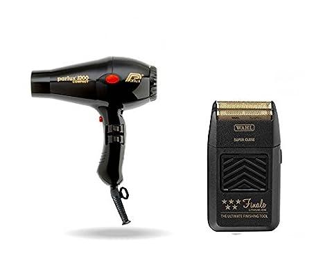 Parlux 3200 secador de pelo Negro Y Wahl Finale Shaver: Amazon.es: Salud y cuidado personal